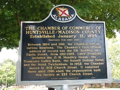 The Chamber of Commerce Huntsville/Madison County Marker image. Click for full size.