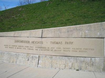 Dorchester Heights • Thomas Park Marker image. Click for full size.