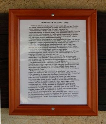The History of the Gosnell Cabin Marker image. Click for full size.