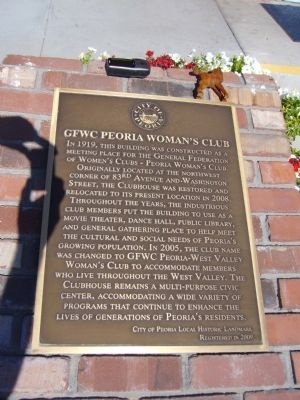 GFWC Peoria Woman's Club Marker image. Click for full size.