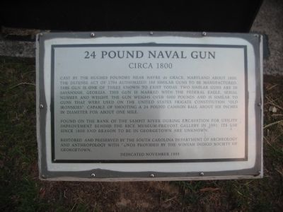 24 Pound Naval Gun Marker image. Click for full size.