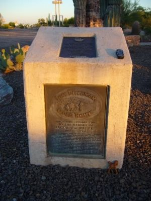 Lost Dutchman Gold Route Marker image. Click for full size.