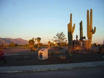 Lost Dutchman Gold Route Monument image. Click for full size.