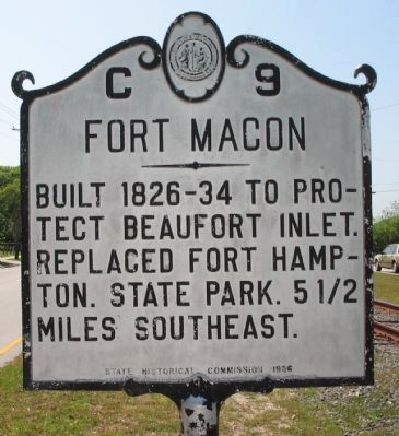 Fort Macon Marker image. Click for full size.