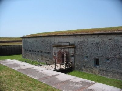 Entrance to Fort Macon image. Click for full size.