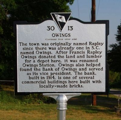 Owings Marker image. Click for full size.
