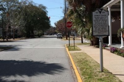 Seibels House Marker, looking west along Richland Street image. Click for full size.