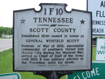 Tennessee / Kentucky Marker image. Click for full size.