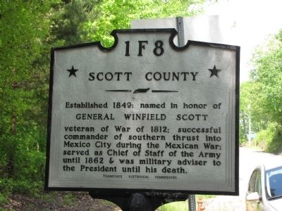 Morgan County / Scott County Marker image. Click for full size.