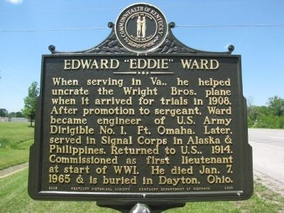 "Edward ""Eddie"" Ward Marker image. Click for full size."