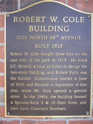 Robert W. Cole Building Marker image. Click for full size.