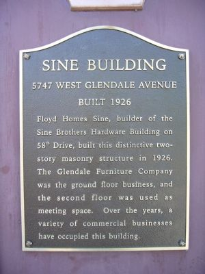 Sine Building Marker image. Click for full size.