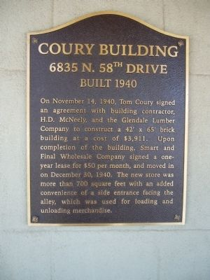Coury Building Marker image. Click for full size.