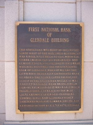 First National Bank of Glendale Building Marker image. Click for full size.