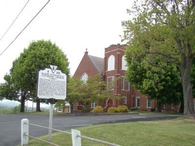 Salem Evangelical Lutheran Church and Marker image. Click for full size.