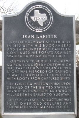 Jean Lafitte (Maison Rouge) Marker image. Click for full size.