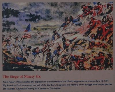 Ninety Six National Historic Site Marker -<br>The Siege of Ninety Six image. Click for full size.