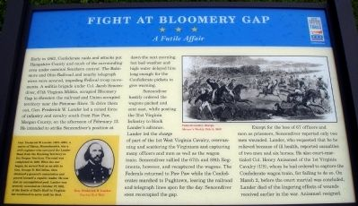 Fight at Bloomery Gap Marker image. Click for full size.