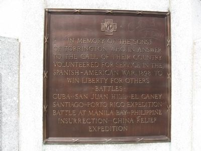 Spanish – American War Plaque image. Click for full size.