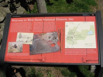 Weir Farm National Historic Site Marker image. Click for full size.