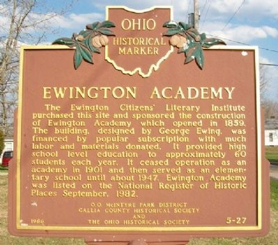 Ewington Academy Marker image. Click for full size.