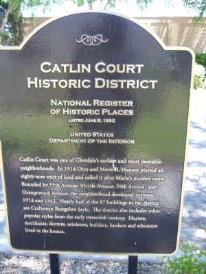Catlin Court Historic District Marker image. Click for full size.