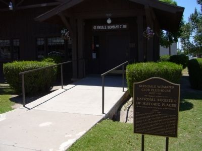Glendale Woman's Club Clubhouse Marker image. Click for full size.