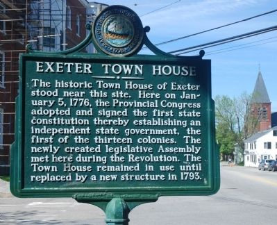 Exeter Town House Marker image. Click for full size.