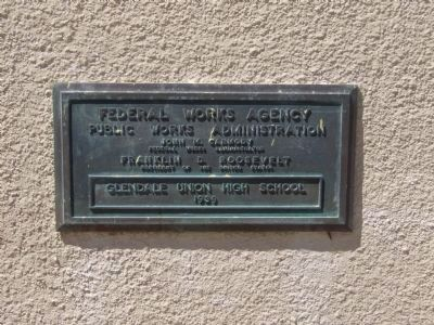 Plaque Mounted on the Building to the Left of the Entrance image. Click for full size.