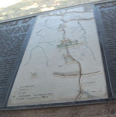 Battle of Alamance Marker - Battlefield Map image. Click for full size.