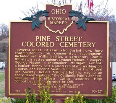 Pine Street Colored Cemetery Marker (Side B) image. Click for full size.