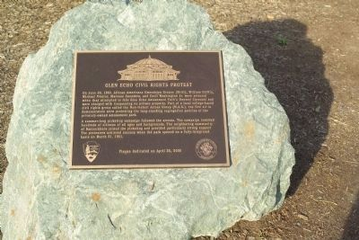 Glen Echo Civil Rights Protest Marker image. Click for full size.