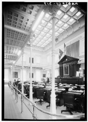 The State House Senate chamber, main floor image. Click for full size.