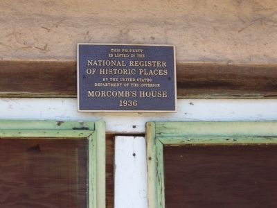 Morcomb's House Historic Places Plaque image. Click for full size.