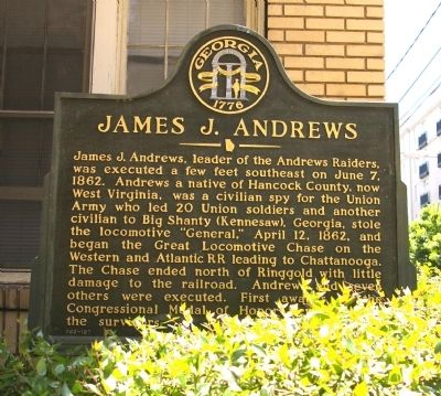 James J. Andrews Marker image. Click for full size.