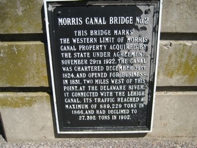 Morris Canal Bridge No. 2 Marker image. Click for full size.