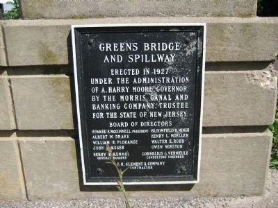 Greens Bridge and Spillway Marker image. Click for full size.