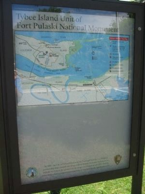 Fort Pulaski National Monument Map image. Click for full size.