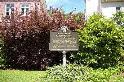 Habersham Memorial Hall Marker image. Click for full size.