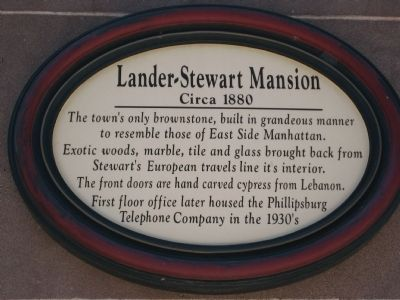 Lander-Stewart Mansion Marker image. Click for full size.