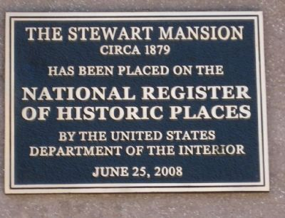 Lander-Stewart Mansion - NRHP Plaque image. Click for full size.