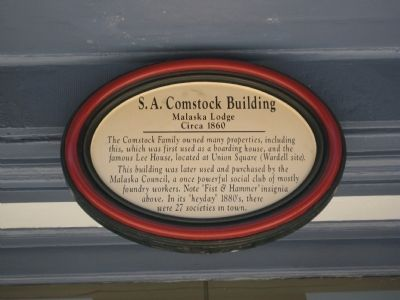 S.A. Comstock Building Marker image. Click for full size.