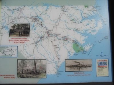 North Carolina Civil War Trails Map image. Click for full size.