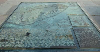 Charleston Harbor Marker Panel 1 - Seventeenth Century image. Click for full size.