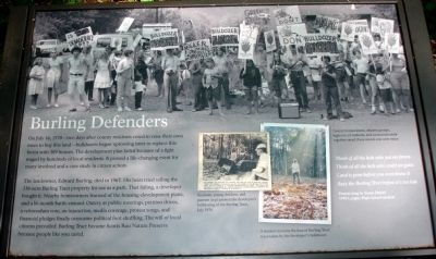 Burling Defenders Marker image. Click for full size.