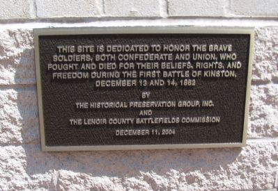 Dedication Plaque at the Site image. Click for full size.