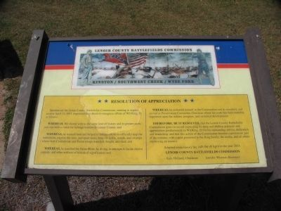 Lenoir County Battlefields Commission - Resolution of Appriciation image. Click for full size.