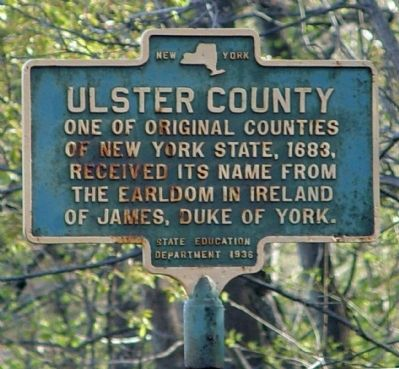 Ulster County Marker image. Click for full size.