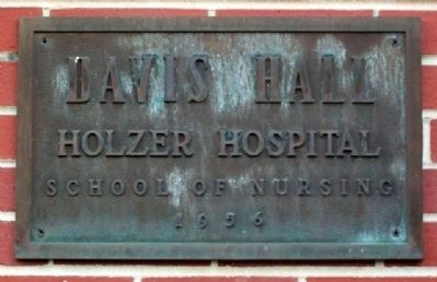 Davis Hall, Former Holzer School of Nursing image. Click for full size.