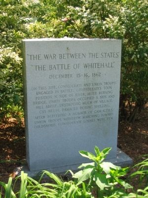 The Battle of Whitehall Marker image. Click for full size.